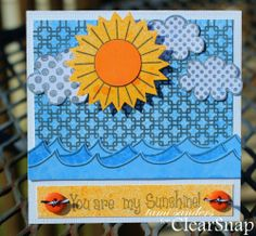 sunshine card - colorbox,clearsnap,stephanie barnard,dye inks,stamped card,stamping on glossy paper,summer card,tami sanders, the {stamps} of life,hello card