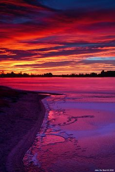 Gorgeous sunset over a lake