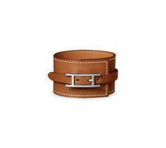 Fleuron leather bracelet.... by HERMES