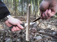 How To Make A Feather Stick For Fire Lighting -