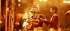 Varanasi is the sacred and oldest city in the world located at the banks of the holy River Ganga. Here, Ganga Aarti is performed daily in the evening by a group of priests at the Dashashwamedh Ghat which is a commitment made to the Lord Shiva, holy river Ganga, the Sun, Agni (Fire) as well as the whole universe created by the Lord Shiva. Ganga Aarti is the magnificent event during evening in the Varanasi that one must not miss to see it.