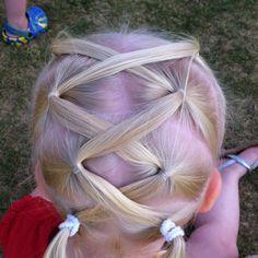 Cute hair style for little girl