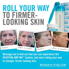 Roll your way to Firmer Looking Skin  https://apriltapp.myrandf.biz/Pages/OurProducts/GetAdvice/SolutionsTool