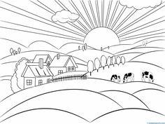 Material imprimible para niños: paisajes para pintar, puzzles infantiles....