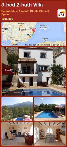 3-bed 2-bath Villa in Benigembla, Alicante (Costa Blanca), Spain ►€215,000 #PropertyForSaleInSpain