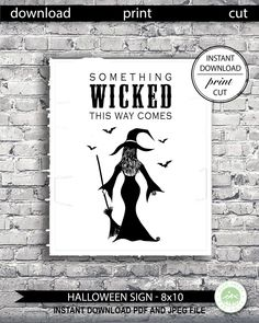 Excited to share the latest addition to my #etsy shop: Something Wicked This Way Comes Printable Sign, Halloween Printable Sign, Printable Halloween Art, Halloween Horror Sign, Witch, #halloween #halloweensign #halloweenprintablesign #witchsign #printablewitchsign #somethingwickedthiswaycomes #somethingwicked #wicked #wickedwitch #halloweenprintables #halloweenart #wallart #witch #printablewitchsign #digital #art #halloweenprint #halloweenprints #horrorgothic #livingroom #halloweenwallart… Halloween Prints, Halloween Signs, Halloween Horror, Halloween Art, Snowflake Invitations, Witch Signs, Halloween Printable, Something Wicked, Wicked Witch