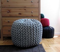 I must have one of these.  giant knitted pouf.