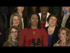The First Lady Honors the 2017 School Counselor of the Year - YouTube > Michelle Obama's last official speech.