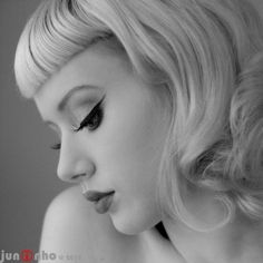 Vintage Hairstyles With Bangs candidly ii by miss mosh,face,makeup,black by Layla Miss Mosh, Pelo Pin Up, Hair Inspo, Hair Inspiration, Vintage Hairstyles, Cool Hairstyles, Betty Bangs, Short Bangs, My Hairstyle