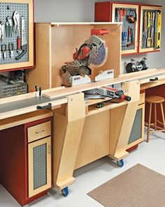 Workbenches, Carts & Stands | Woodsmith Plans #woodworkingprojects