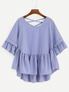 Image result for blouse with bow ruffle