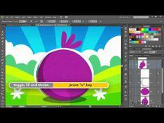 ▶ Ilustrator tutorial: Drawing an Angry Birds-like character | lynda.com - YouTube