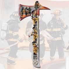 Arms of Safety - The axe is hand-crafted and hand-painted for true-to-life realism. The handle replicates the look of a real firefighter's ladder with intricately-designed sculptures of firefighters carrying children to safety.  At the base of this replica axe, a stunning rendition of the historic Maltese Cross is set in glistening silver and gold tones.