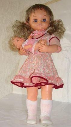 boneca antiga mãezinha da estrela 70s