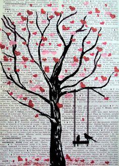 DIY Mixed Media Tree Art Projects (10)