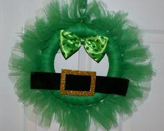 Leprechaun Tulle Wreath by Knitsandmorebyml on Etsy, $25.00