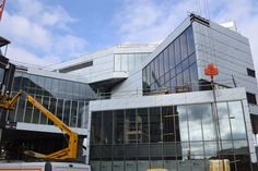 The Postgraduate and CPD Centre, constructed by Kier, at the University of Bedfordshire's Luton campus shortly before completion in spring Civil Engineering Projects, Beds, Centre, Multi Story Building, University, Construction, Spring, Building, Bed