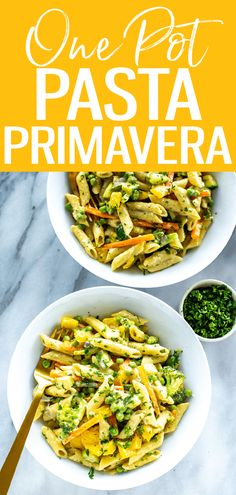 This One Pot Pasta Primavera is a 30-minute dinner that's packed with fresh vegetables and an easy creamy parmesan sauce. #pastaprimavera #onepotpasta 30 Minute Dinners, One Pot Dinners, Pasta Primavera, Garlic Pasta, One Pot Pasta, Frozen Vegetables, Meal Prep Bowls, Meal Prep For The Week, Dinner Menu