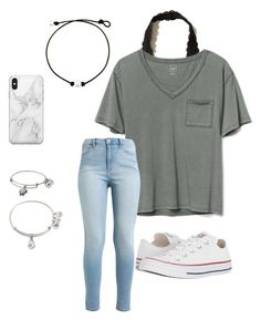 """""""Casual"""" by kkayyllee on Polyvore featuring Hollister Co., Gap, Converse, Recover and Alex and Ani"""