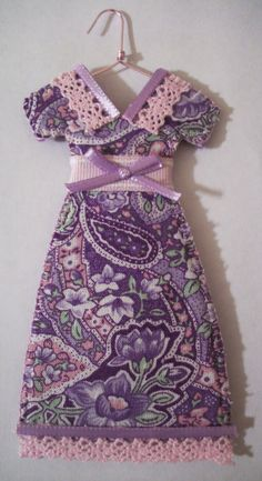 Purple Paisley Miniature Dress #Ornament.  Great for Christmas, everyday home decor, parties, wedding/bridal showers, gift bags, etc.