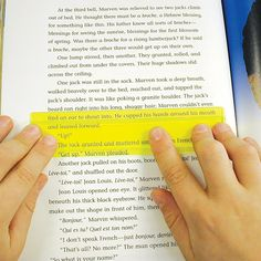 Eye Lighter Guided Reading Strip Yellow ELT-Y On Book Page View
