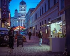Night time street food in Helsinki