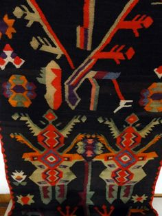 Bessarabia / Moldova; romanian rug (detail) in the National Ethnographic Museum, Chisinau