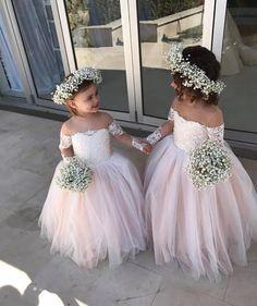 """1,534 Likes, 21 Comments - Brides Journal (@bridesjournal) on Instagram: """"How adorable are these flower girls? Dress @vintagerosebyhannahaj #bridesjournal _ #couture…"""""""