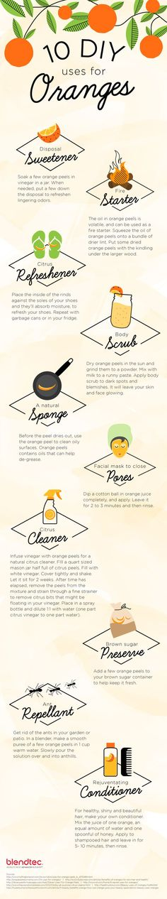 Oranges are very popular and taste great. But did you know they aren't just for eating? Try one of these 10 uses for oranges. Click here to learn more.