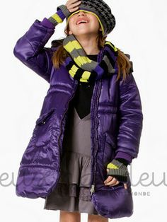 Purple Puffer Coat by Deux par Deux for Fall 2013. It's hard not to love purple.