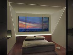 LED Plaster-In lighting solution   Modern bedroom lighting idea   TruLine .5A - by Pure Lighting