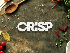 Crisp Restaurant Logo spicy chef cooking creative idea awesome inspiration smart modern minimal subtle clever negative s Logo Pizzeria, Restaurant Logo Design, Restaurant Food, Food Logo Design, Brand Identity Design, Branding Design, Logo Desing, Logo Fitness, Fitness Design