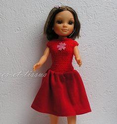 Robe rouge compatible poupée Nancy de Famosa 43 cm : Jeux, jouets par laines-et-tissus