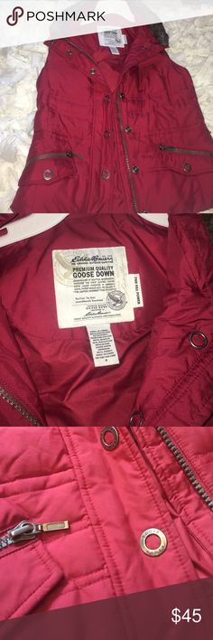 Sleeveless quilted down jacket Good condition worn once Eddie Bauer Jackets & Coats
