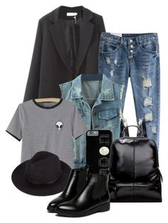 """""""Street Style _ Beautiful Halo"""" by by-jwp ❤ liked on Polyvore featuring WithChic, women's clothing, women's fashion, women, female, woman, misses, juniors and beautifulhaloz"""