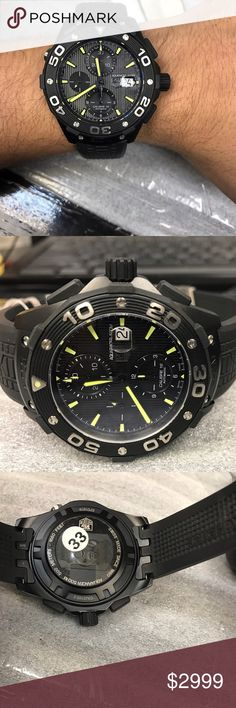 Men's sports watch This is display model of tag heuer .no scratches woks perfect. 6 months warranty by chronoarc. Tag Heuer Accessories Watches