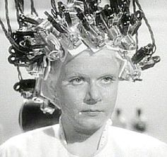 """1930 electric perm machine with CURLING RODS. My Aunt had one of these when I was a kid. Scared me """"almost"""" to death! lol"""
