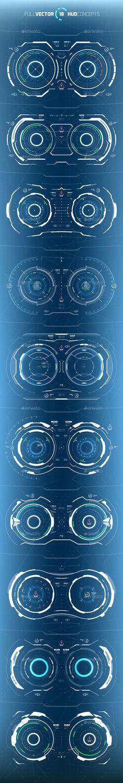 286b877aeca Conceptual 10 Hi-Tech HUD Set - Miscellaneous Vectors Download link  https