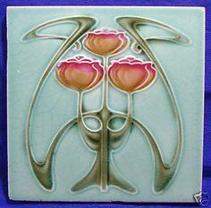 art nouveau tulip tile