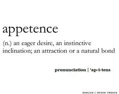 Appetence