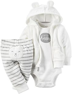 baby clothing   Carter's Unisex Baby 3 Pc Sets 126g279, Heather, 6 Months