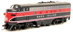 Track Cleaner Locomotive - Stewart F7A, Non-Powered -- Rock Island (343-1096) -- Walthers Model Railroading