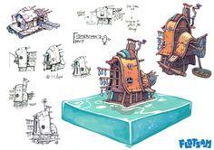 Flotsam - Fisherman's Hut, Stan Loiseaux on ArtStation at https://www.artstation.com/artwork/OwXm8