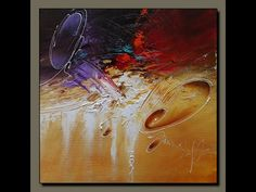 Acrylic abstract painting #Gesso #textured #demonstration - YouTube