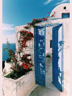 The Blue Door, Oia, Santorini island - Greece Places Around The World, Oh The Places You'll Go, Oia Santorini Greece, Santorini Island, Beautiful World, Beautiful Places, Greek Islands, Dream Vacations, Wonders Of The World