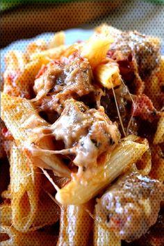 #casserole #italian #sausage #penne Italian Sausage Penne CasseroleYou can find Sweet italian sausage and more on our website.Italian Sausage Penne Casserole Sweet Italian Chicken Sausage Recipe, Ground Italian Sausage Recipes, Crockpot Italian Sausage, Sausage Crockpot Recipes, Cooking Recipes, Italian Sausage Casserole, Casserole Recipes, Penne And Sausage Recipe, Sweet Sausage Recipes