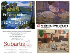 Próxima Subasta #ArtistasDiversos en Subartis el 12 de Marzo del 2015
