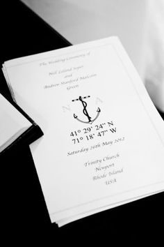 For a refined take on nautical, keep Save The Dates clean and classic, and let a solitary anchor in navy ink do the talking for you.