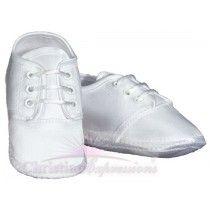 Boys Satin Christening Shoes