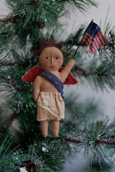 Angel Ornament Named USA by joleecaldwell on Etsy,